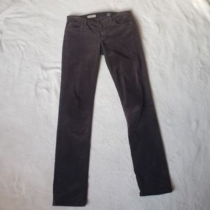 Ag Adriano Goldschmied Pants - AG the premiere skinny straight corduroy pant G